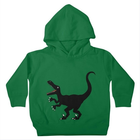 RAPTOR - Cute Dinosaur - Childrens - Unisex - Toddler Pullover Hoody / Hoodie by Oliver Lake - iOTA iLLUSTRATION