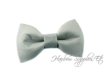 Grey Fabric Bows 2.5 inch - Embellishment - Hair Bows, Bow Tie, Fabric Bows, Bows For Girls, Bow For Hair, Hair Bows For Babies