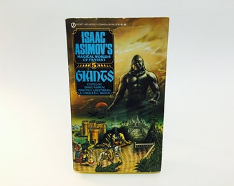 Vintage Fantasy Book Isaac Asimov's Magical Worlds of Fantasy #5: Giants 1985 Paperback Anthology