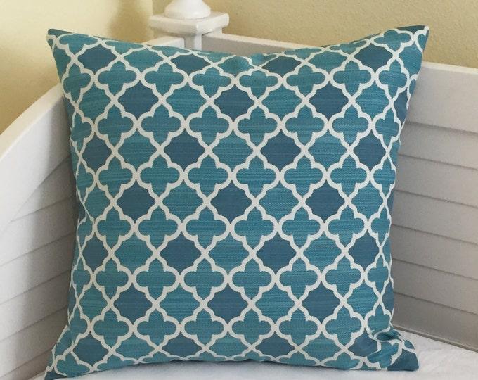 LABOR DAY SALE, Bella Dura Aquamarine Indoor Outdoor Designer Pillow Cover