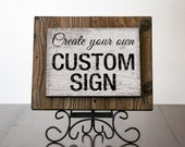 LONDON - Custom Signs with Reclaimed Wood. Rustic Signs. Wedding Decor. Bar Sign. Custom Frame. Coffee Shop Decor. Restaurant Decor. 8x6