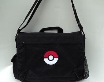 Black Pokeball Messenger bag Laptop Shoulder bag