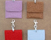 Ultrasuede Dog Tag Silencer Bag with Swivel Clip