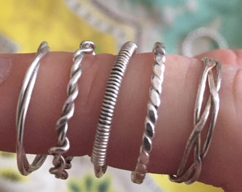 Sterling Silver Stacking Rings - Sale!!!! ONLY 10 DOLLARS per ring!!! Was 18 Dollars!