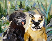 Arizona Friends  Original painting commission for The McAllisters 24 x 30 Art by Elaine Cory