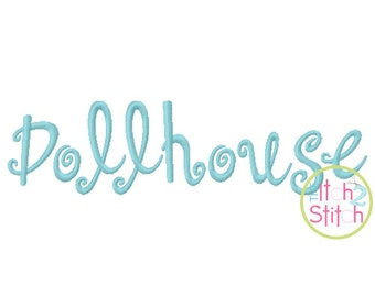 "Dollhouse (like Sunny)  Machine Embroidery Font  1""& 2"" (upper and lower A-Z)  INSTANT DOWNLOAD now available"
