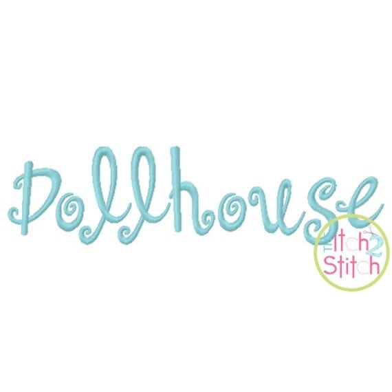 """Dollhouse (like Sunny)  Machine Embroidery Font  1""""& 2"""" (upper and lower A-Z)  INSTANT DOWNLOAD now available"""