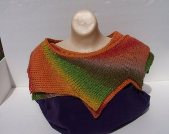 Dragon tail wingspan scarf shawl wrap in autumn colors