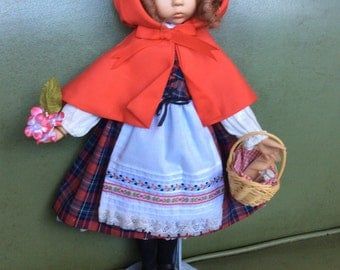 Vintage Diana Effner Little Red Riding Hood  Doll 14""