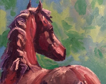 """Giclee Print Horse Painting, 11 x 14"""""""