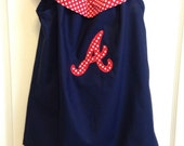 Atlanta Braves Inspired Ruffle Dress