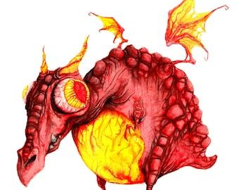 Red Dragon - Matte Print