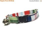 BIG SALE Nautical Cat Collar...Tommy Boy