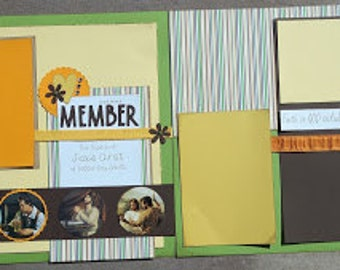 Baptism Scrapbook Page for Teens or Adults