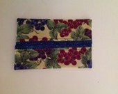 Grape Vines Fabric Tissue Holder Gift Idea Novelty Pocket Size Handmade