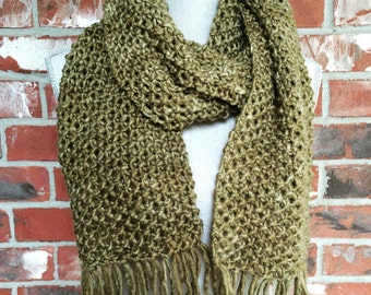 Chunky Knit Scarf Greenery Ready to Ship Winter Scarf Greenery