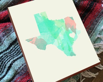 Houston Print - Houston Map - Houston Art - Wood Block Art Print