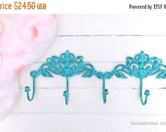 On Sale Shabby Chic Wall Hook /Metal wall Decor / Cottage Chic / Key Hanger / Key rack / French Cottage /Metal wall hook