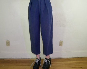 90s high waisted light weight denim trousers size small
