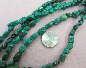 Natural Turquoise nugget strands