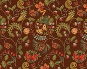 Windham Wild Woods Brown Butterfly Floral 1/2 Yard Fabric for Quilting 41122-2