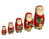 Vintage Nesting Santas