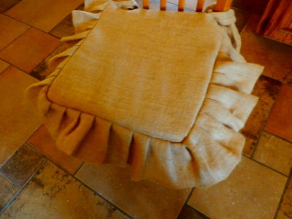 French Grain Sack Burlap Seat Cover 18 X 18 Inch With