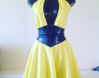 Latex Silk Spectre Inspired Dress and Belt