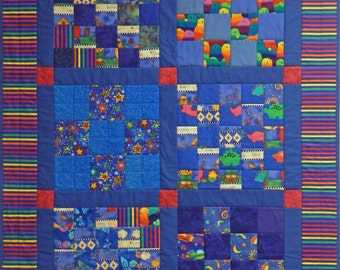 Childs Quilt, 4920-0, Childs Blue Quilt, Crib Quilt