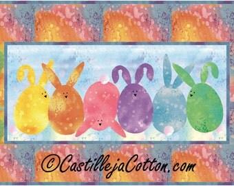 Flip Flop Bunnies Quilt ePattern, 4319-32, bunny wall quilt, child's wall quilt, digital download, easter wall quilt