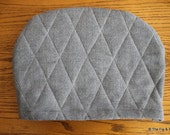 Tea Cozy Grey Wool With Cotton Lining - Teapot Insulation Device