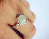 Moonstone ring in sterling silver gemstone ring