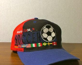 Vintage 1994 World Cup Soccer Baseball Hat