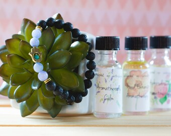 Aromatherapy Bracelet in Blue - Choose your fragrance