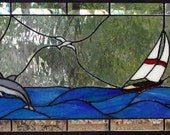 Tropical Transom window panel
