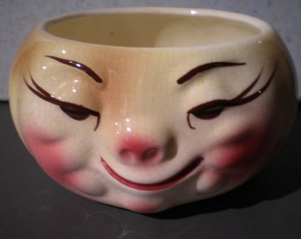 Vintage Mid Century Anthropomorphic Pottery