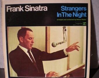 Vintage 1960's Frank Sinatra Record - Album - Strangers In The Night