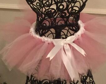 Soft Pink and White Newborn Tutu
