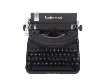 Rejuvenated Underwood Typewriter - Noiseless No. 77 - Vintage 1940's - Excellent Working Order - FREE Domestic Shipping