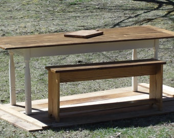 Oak Kitchen Table & Bench (Sold seperately or together)