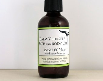 Calm Yourself Bath and Body Oil, Bergamot, Bath Oil