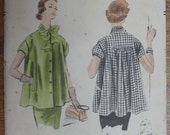 "Vintage Vogue Maternity Pattern 7983 1950s Size 12 for 30"" Bust"