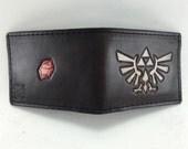 Zelda Inspired Hyrule Crest Hand-Tooled Leather Wallet