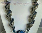 LoveU The Blues:  Dutch Spiral  Cellini Bead Woven Necklace On Sale Was 195.00 Now 160,00