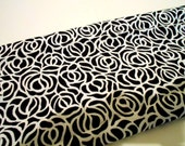 Mystery Fabric, Black & White Sewing Material, 1 7/8 Yd Remnant