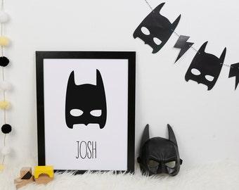 Printable Garland: Batman & Catwoman