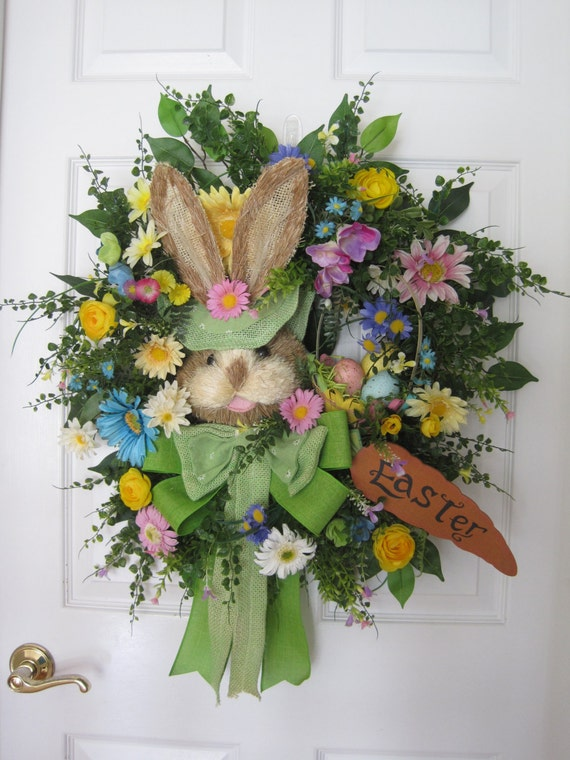 Easter Wreath Free Shipping Front Door Wreath Easter By