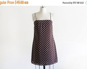 ON SALE Vintage Dot Mini Dress