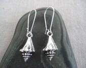 Silver Seashell Earrings - Silver Conch Earrings - Beach Ocean Jewelry