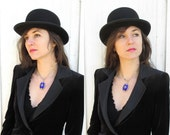1930's Bowler Hat - High Quality - Derby Hat VINATGE small size LADIES 6 7/8